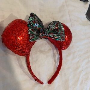 Red & Green Minnie Ears
